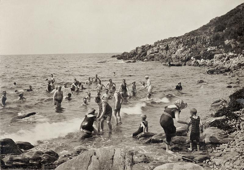 Ransvik, bagno insieme a Mölle 1910 circa