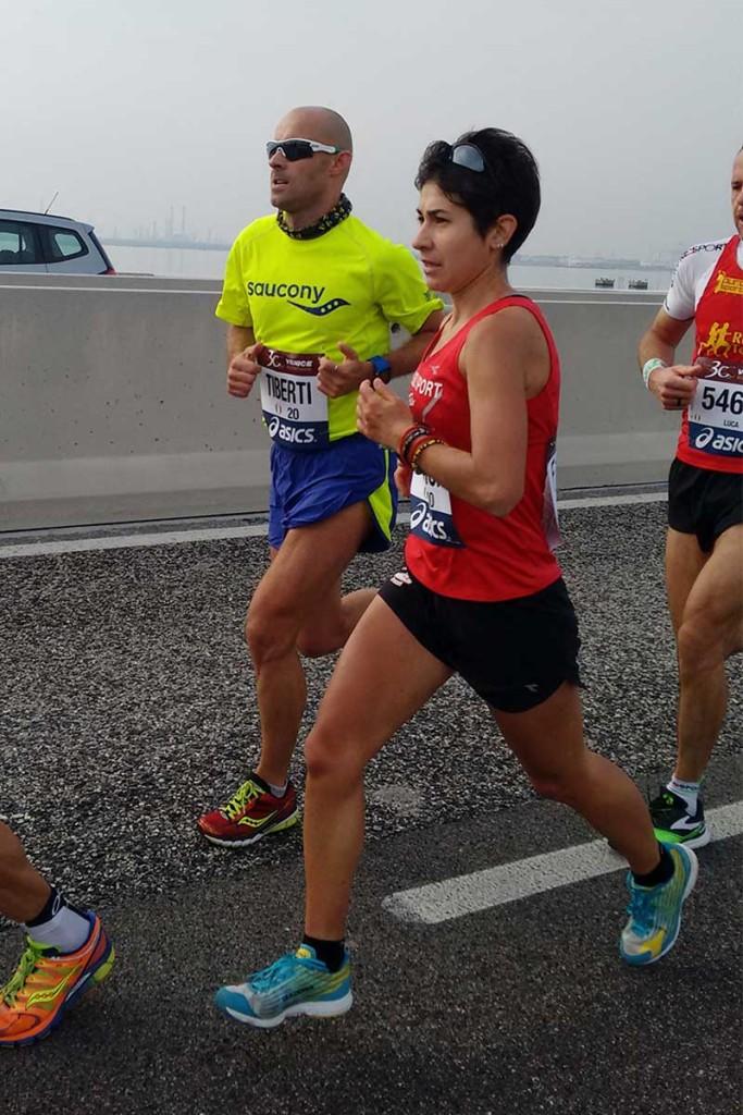 Tito Tiberti e Gloria Giudici alla Maratona di Venezia 2015