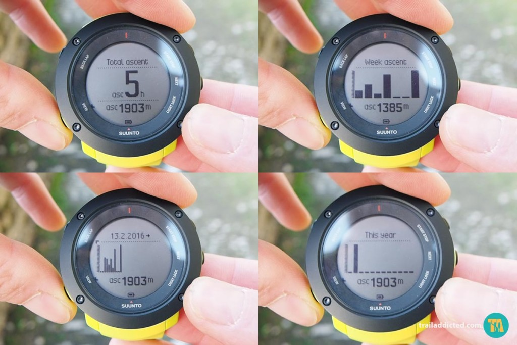 Suunto Ambit3 Vertical - Ascent History