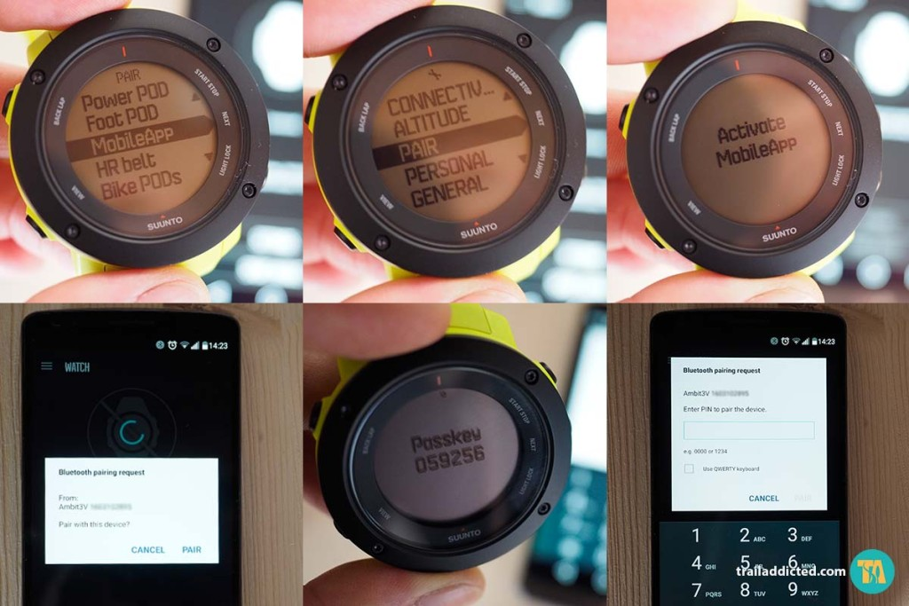 Suunto Ambit3 Vertical - Smartphone android pairing