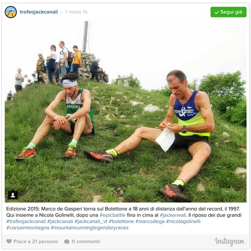 Trofeo Jack Canali 2015 - Marco DeGasperi e Nicola Golinelli al traguardo