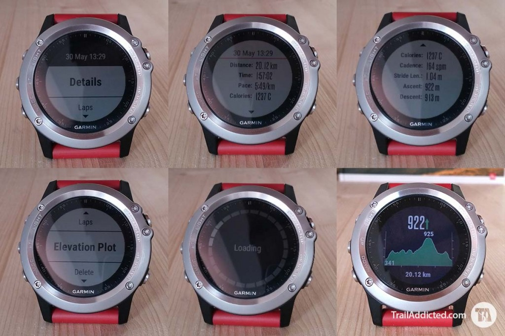 Garmin Fenix3 - Activity Detail