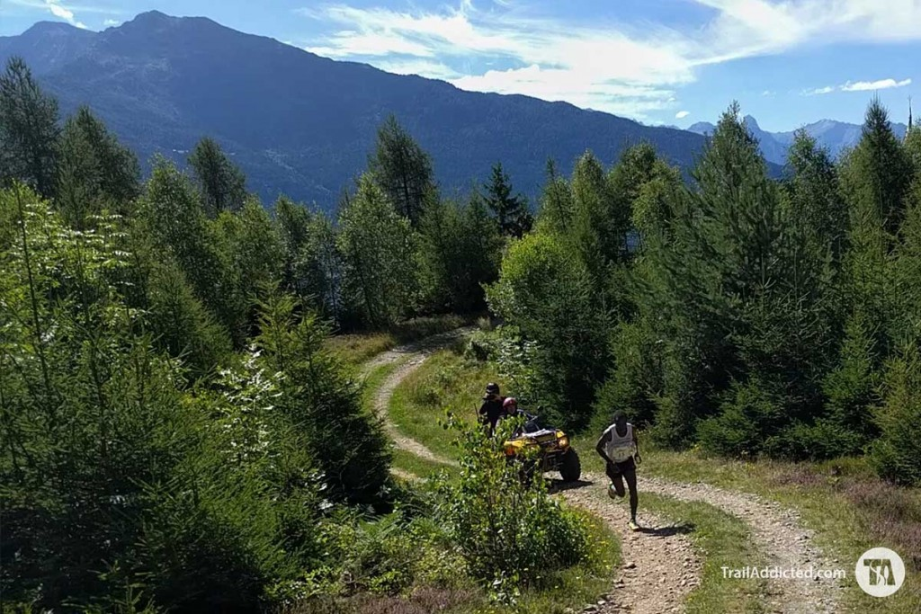 Petro Mamu in testa al Fletta Trail