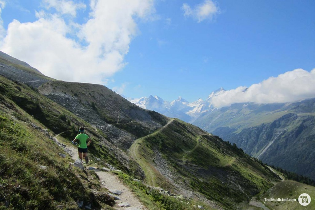 Gloria on the Sierre-Zinal Trail