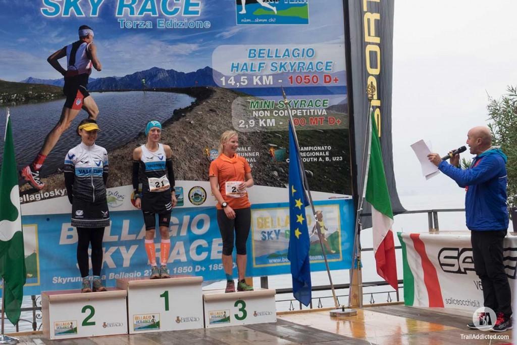 2016 Bellagio Skyrace, Podio femminile