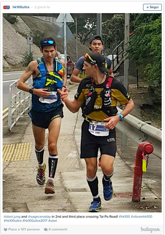 HongKong 100 run for 2nd place - Daniel Jung and Sage Canaday