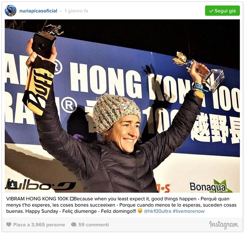 Nuria Picas 2017 Vibram Hong Kong 100 winner