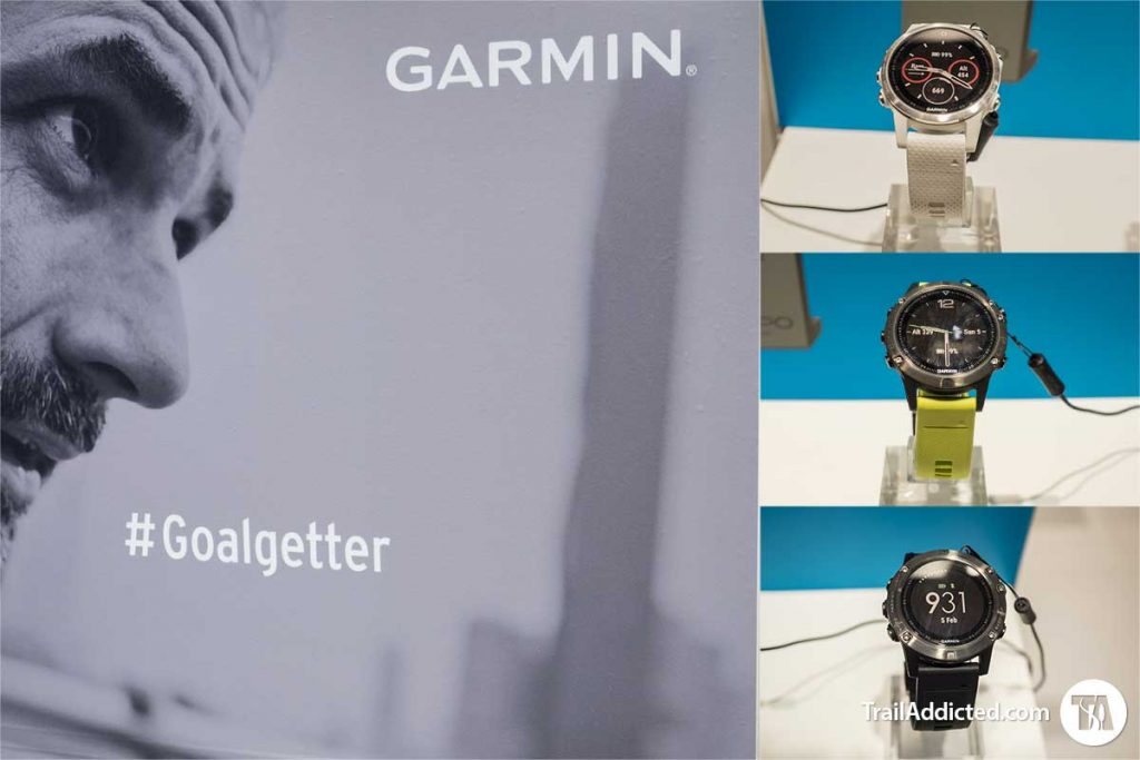 Garmin Fenix 5 Collection, dall'alto Fenix 5S, Fenix 5, Fenix 5X
