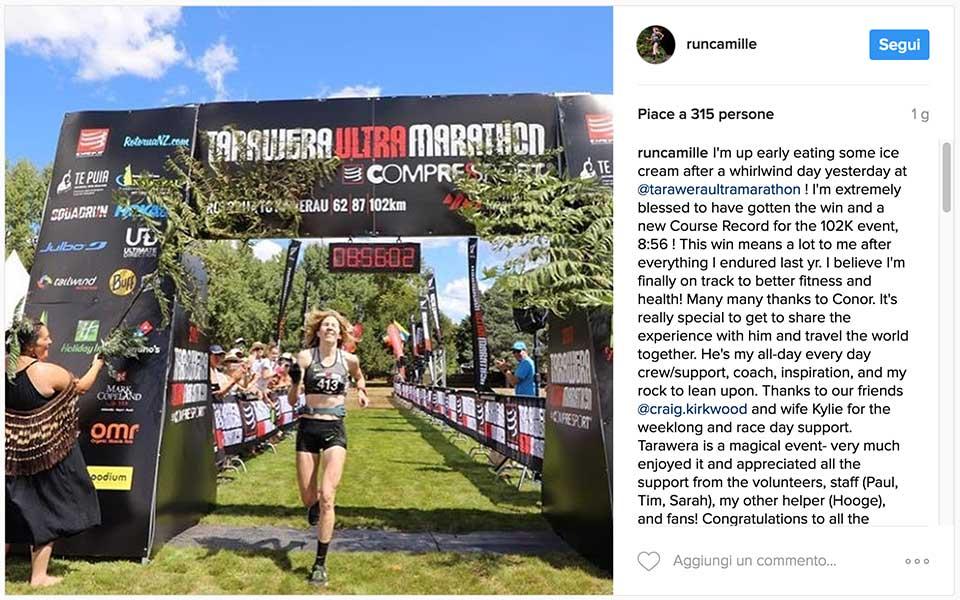 Tarawera ultramaraton 2017 winner Camille Herron