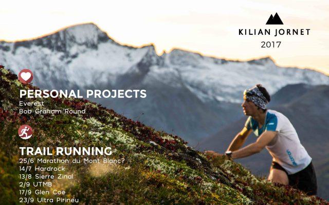 Il calendario 2017 di Kilian, UTMB tra gli obiettivi.