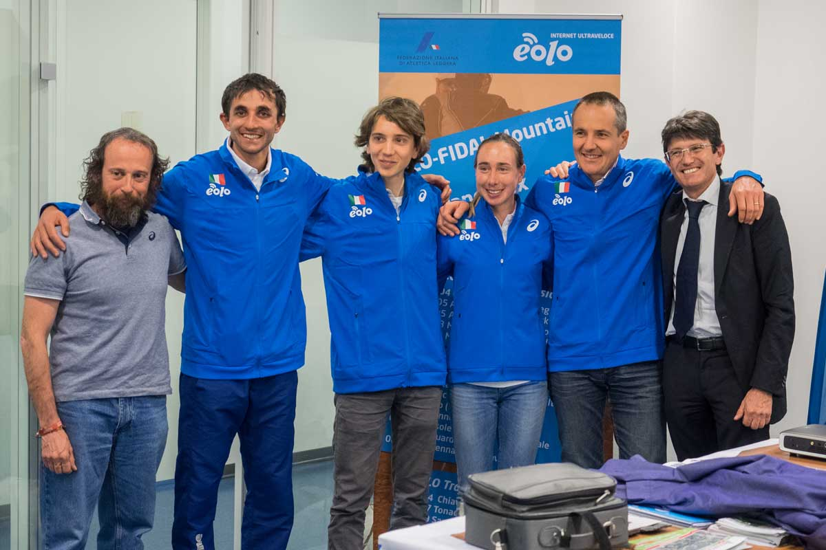 Presentazione Eolo-Fidal Mountain and Trail Grand Prix Puppi DeMatteis Gaggi Spada