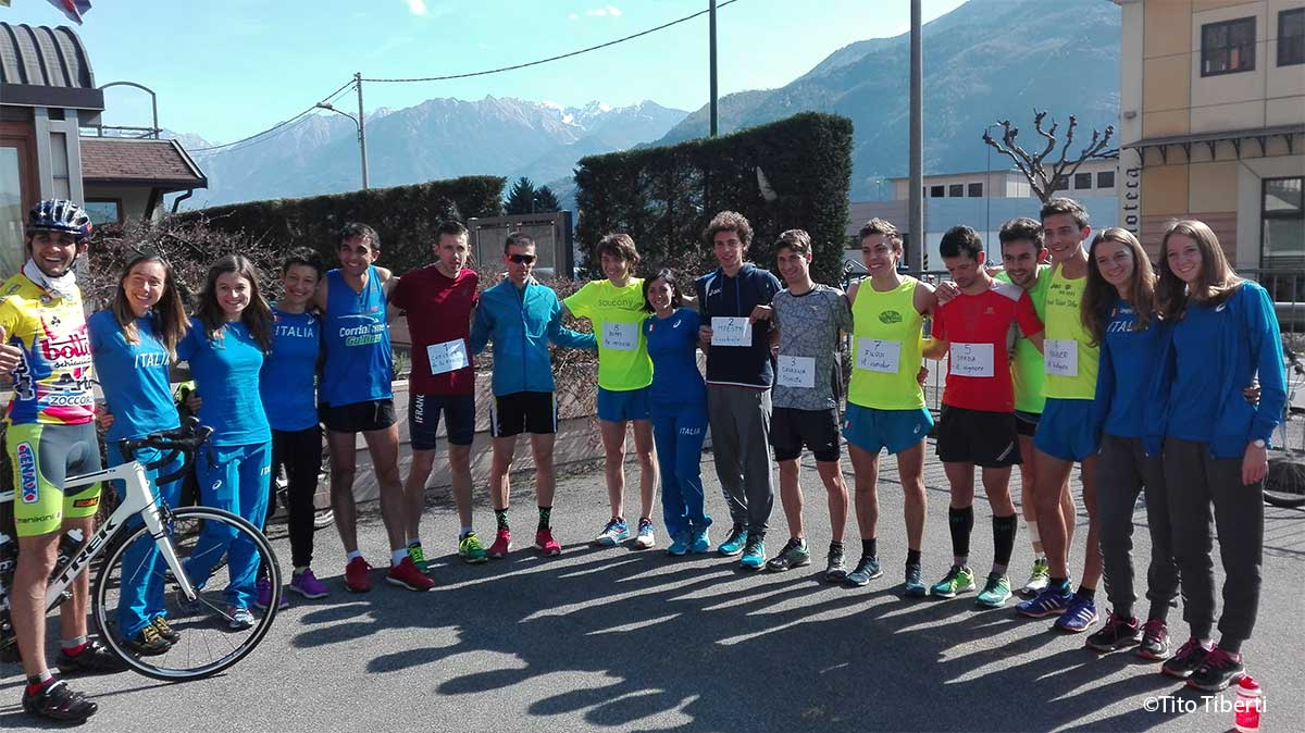 Il Mountain Runner Italian Team al completo