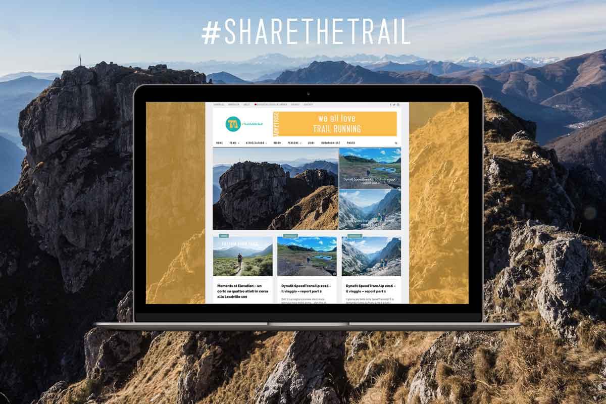 Trail running advertising